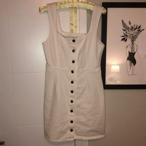 urban outfitters white denim dress